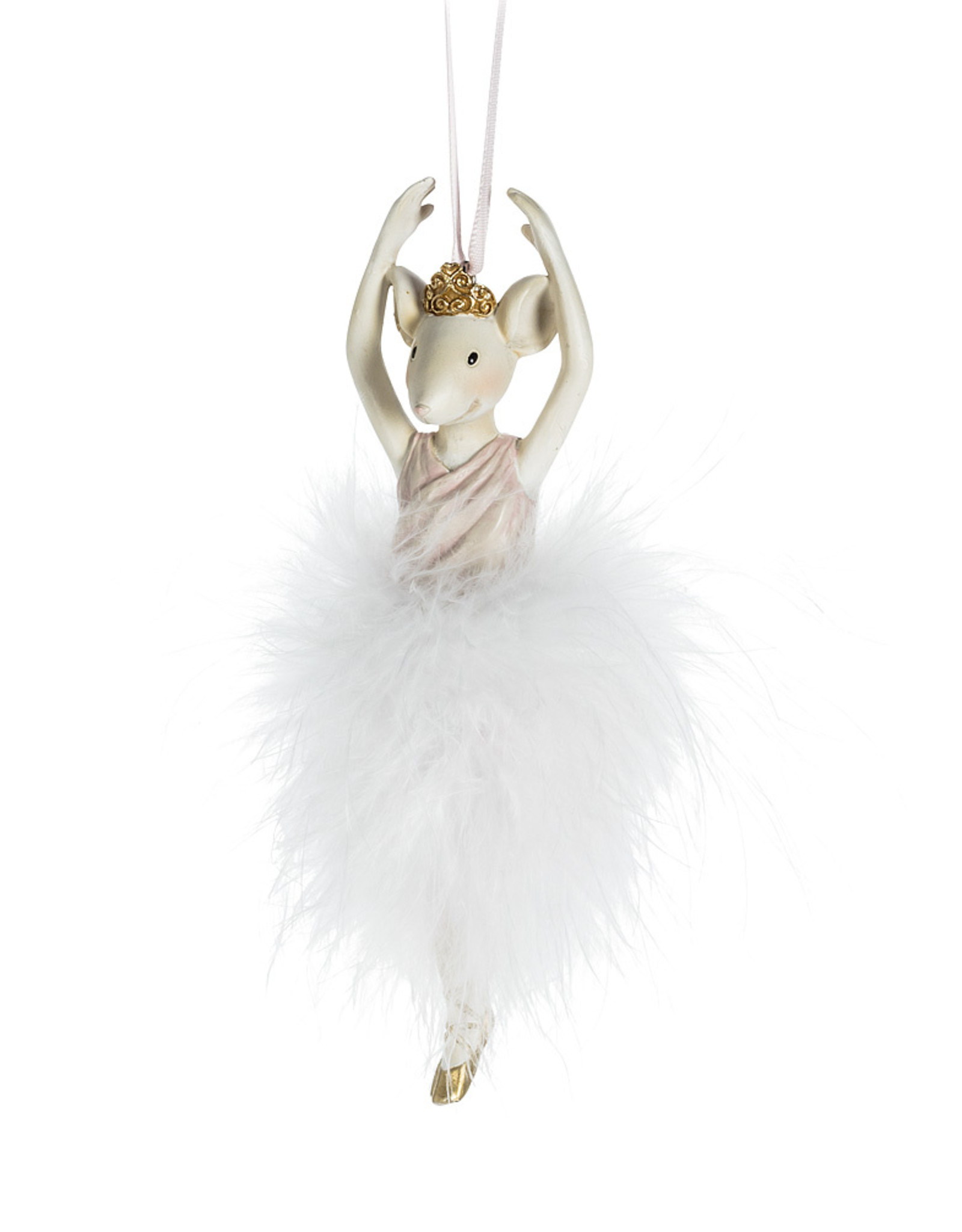 Xmas Abbott Ornament Mouse Ballerina