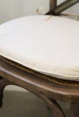 LH Imports Cushions LH Cross Back Chair Pad-linen