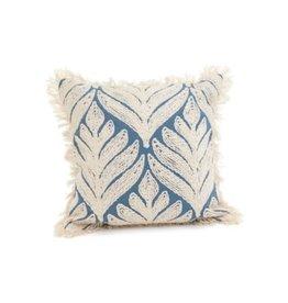 "Cushions PC Chenille Leaf LGY/IVR 17"""