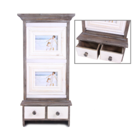 Picture Frame Splash With Drawers