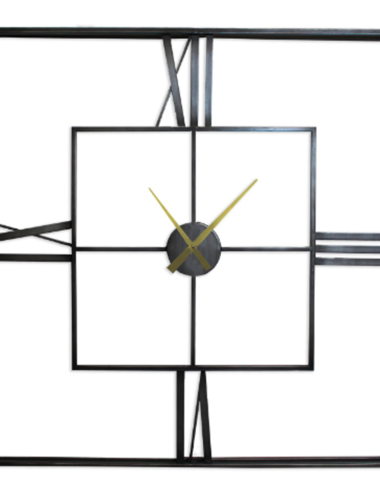 Clocks Splash Roman Index Square Iron Frame
