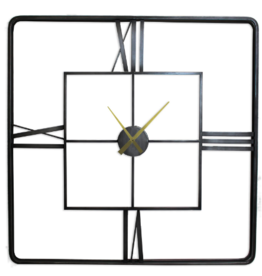 Clocks Splash Roman Index Square Iron Frame