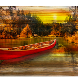 Art Splash Red Canoe Lake