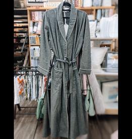 Intermark Robe Flannel Wulfing Luxus Grey Large