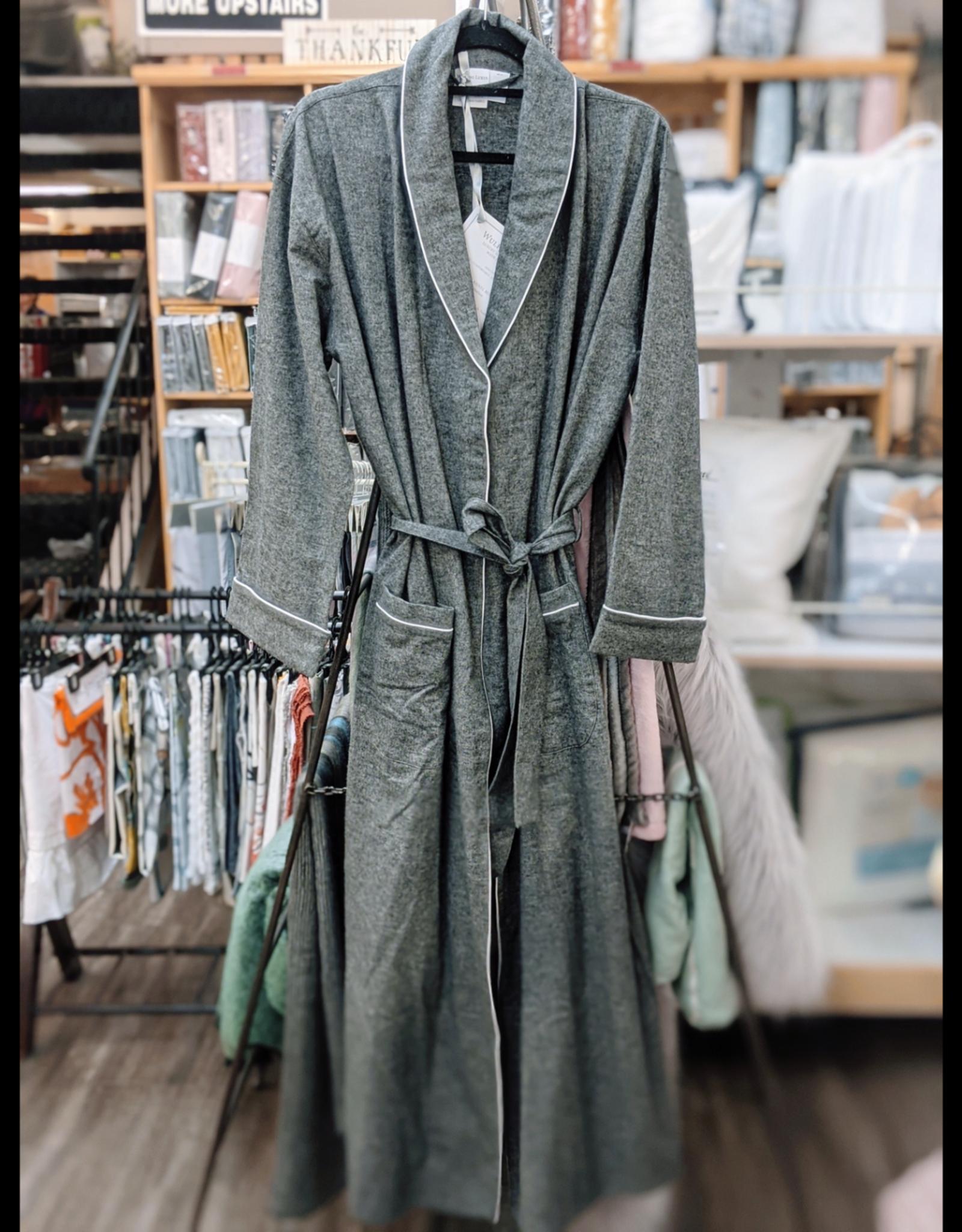 Intermark Robe Flannel Wulfing Luxus Grey Small