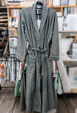 Intermark Robe Flannel Wulfing Luxus Grey Extra Small