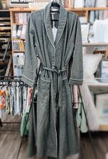 Intermark Robe Flannel Wulfing Luxus Grey X- Large
