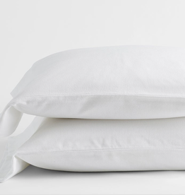 Intermark Pillow Cases Dormisette Flannel Queen White ( Pair )