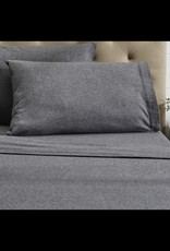 Intermark Pillow Cases Dormisette Flannel Queen Grey ( Pair )