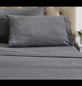 Intermark Pillow Cases Dormisette Flannel King Grey ( Pair )