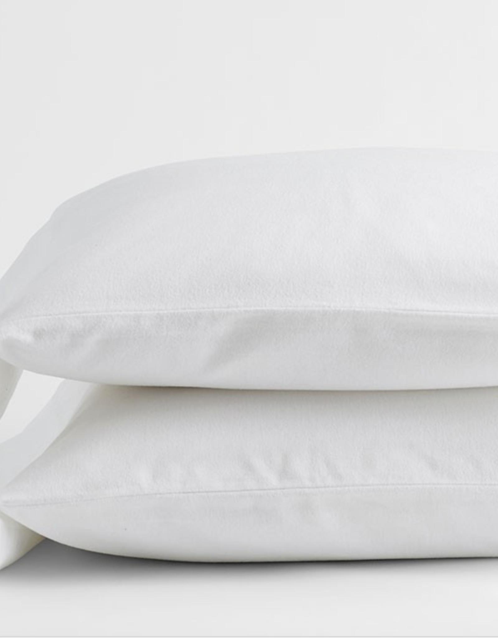 Intermark Pillow Cases Dormisette Flannel King White ( Pair )