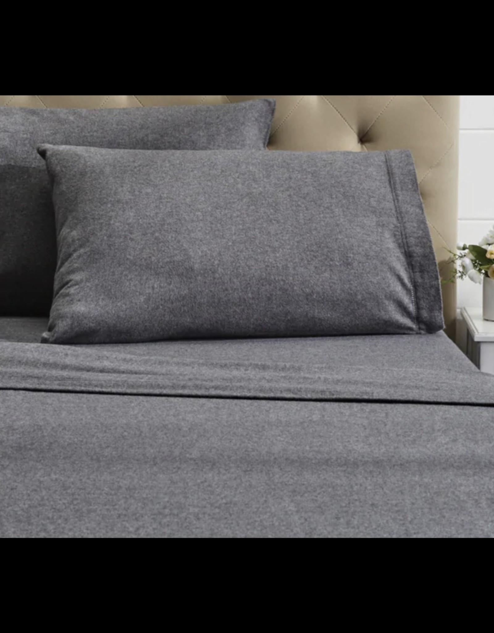 Intermark Sheets Dormisette Flannel King Grey Flat