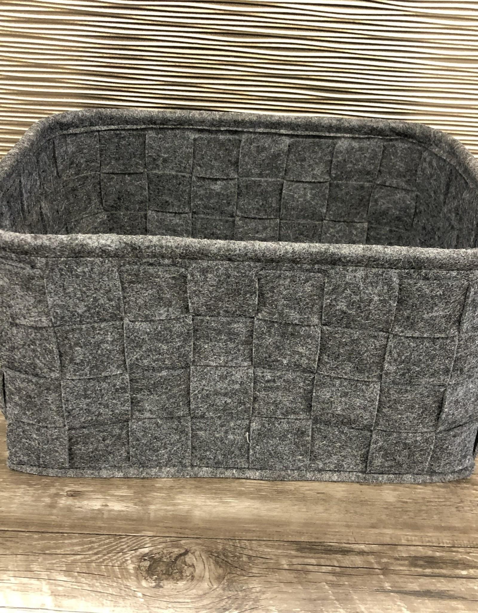Cathay Basket Cathay Woven Felt  Grey 14.5 10-2510