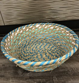 Basket Tray Green Woven