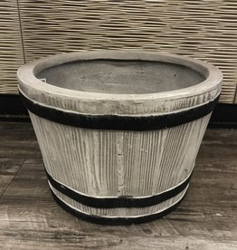 Planter Barrel Small Clay