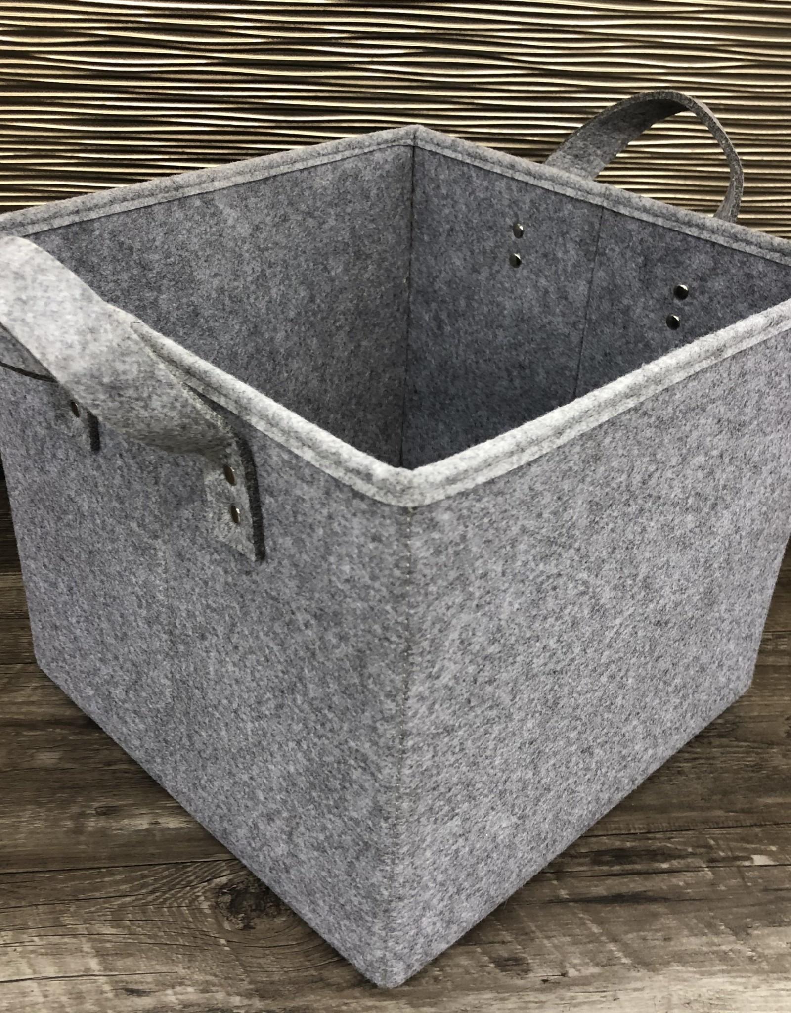 Cathay Basket Cathay Storage Grey Felt Handle