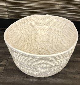 Indaba Basket Indaba Storage Woven White Round