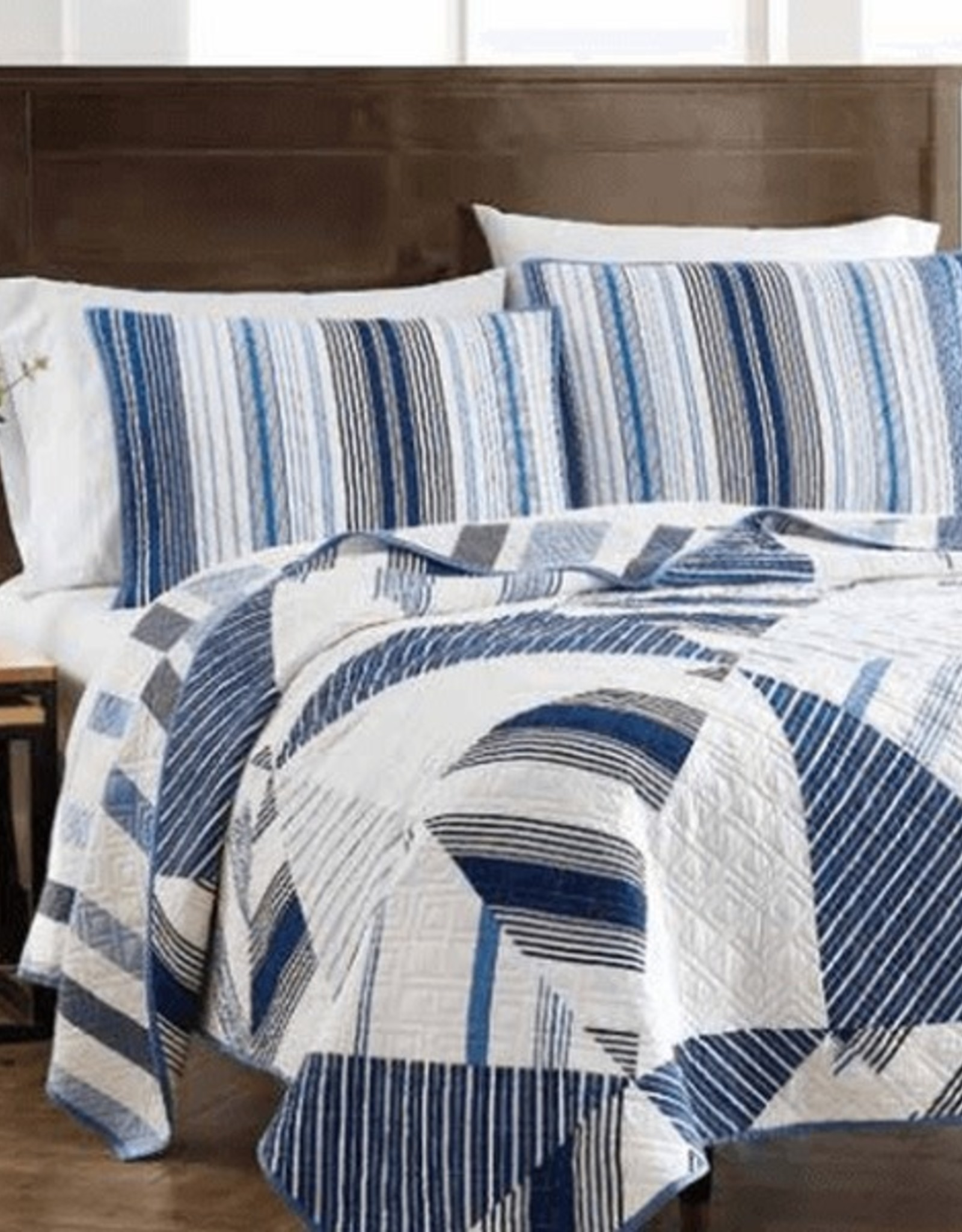 Quilt Sets Peace Arch Azure Stripe 60957 Queen