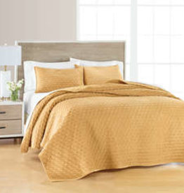 Quilt Sets Peace Arch Medallion Mustard 60962 Queen