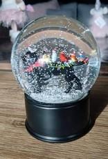 Xmas Abbott Dog/Bird Snow Globe
