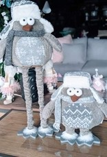 Xmas CT Grey Standing Owl Q8848