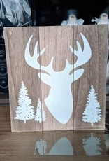 Xmas Past Sign Deer