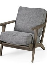 Mercana Mercana Castlerock Grey Fabric Arm Chair Brown 68727