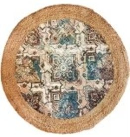 Rugs RichCasa Jute Natural & Grey Round 42067NAT 5'