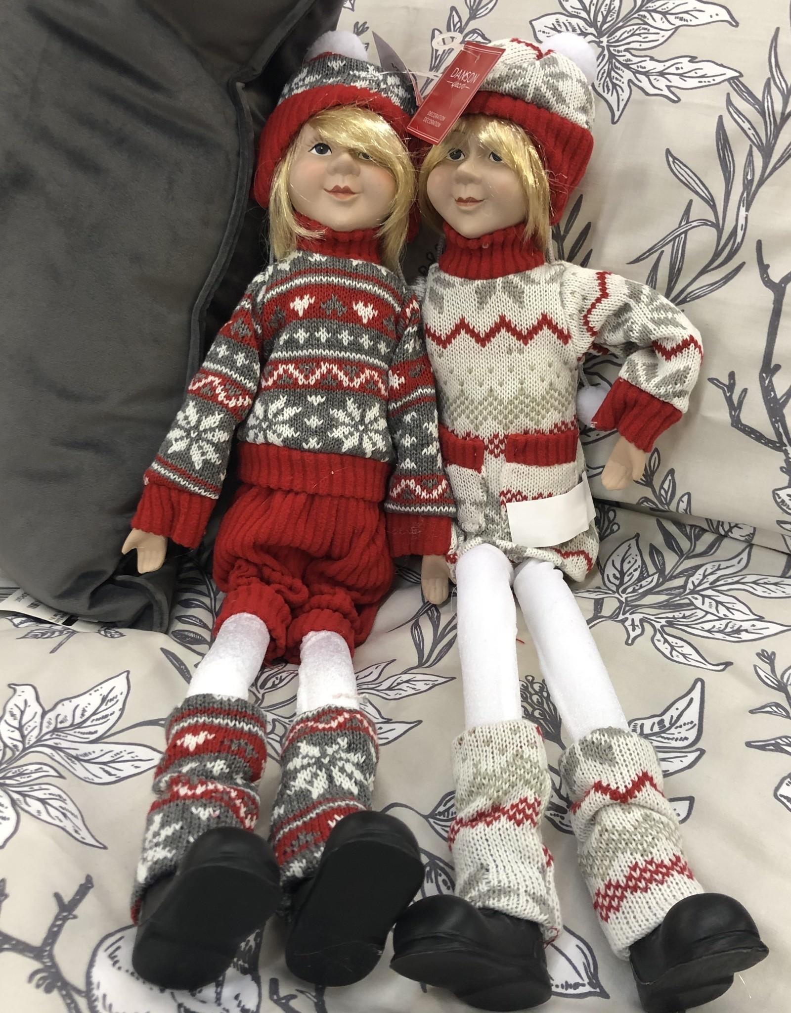 "Xmas Danson Fabric Elf Red Hanging 22"""