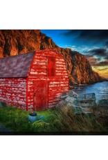 Streamline Art A Red Shed Sunrise 3 30 x 45