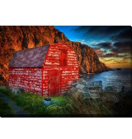 Streamline Art A Red Shed Sunrise 3 30 x 45
