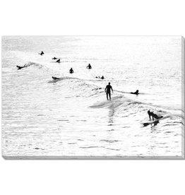 Streamline Art Silhouette Surfers 30x45