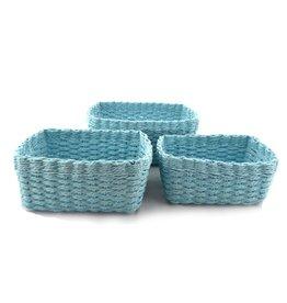 Nostalgia Basket Nostalgia Rectangular Blue  726-019 MED