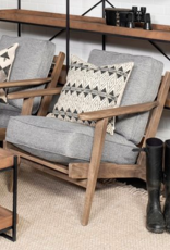 Mercana Mercana Castlerock Grey Fabric Arm Chair Brown 68727