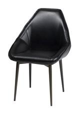 LH Imports LH Armando Tub Chair Fox Black CR003-BLK