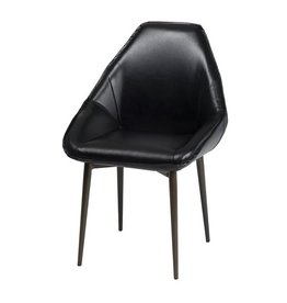 LH Imports LH Armando Tub Chair Fox Black CR003-BLK