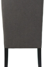 LH Imports LH Lauren Non Tufted Dining Chair in Graphite