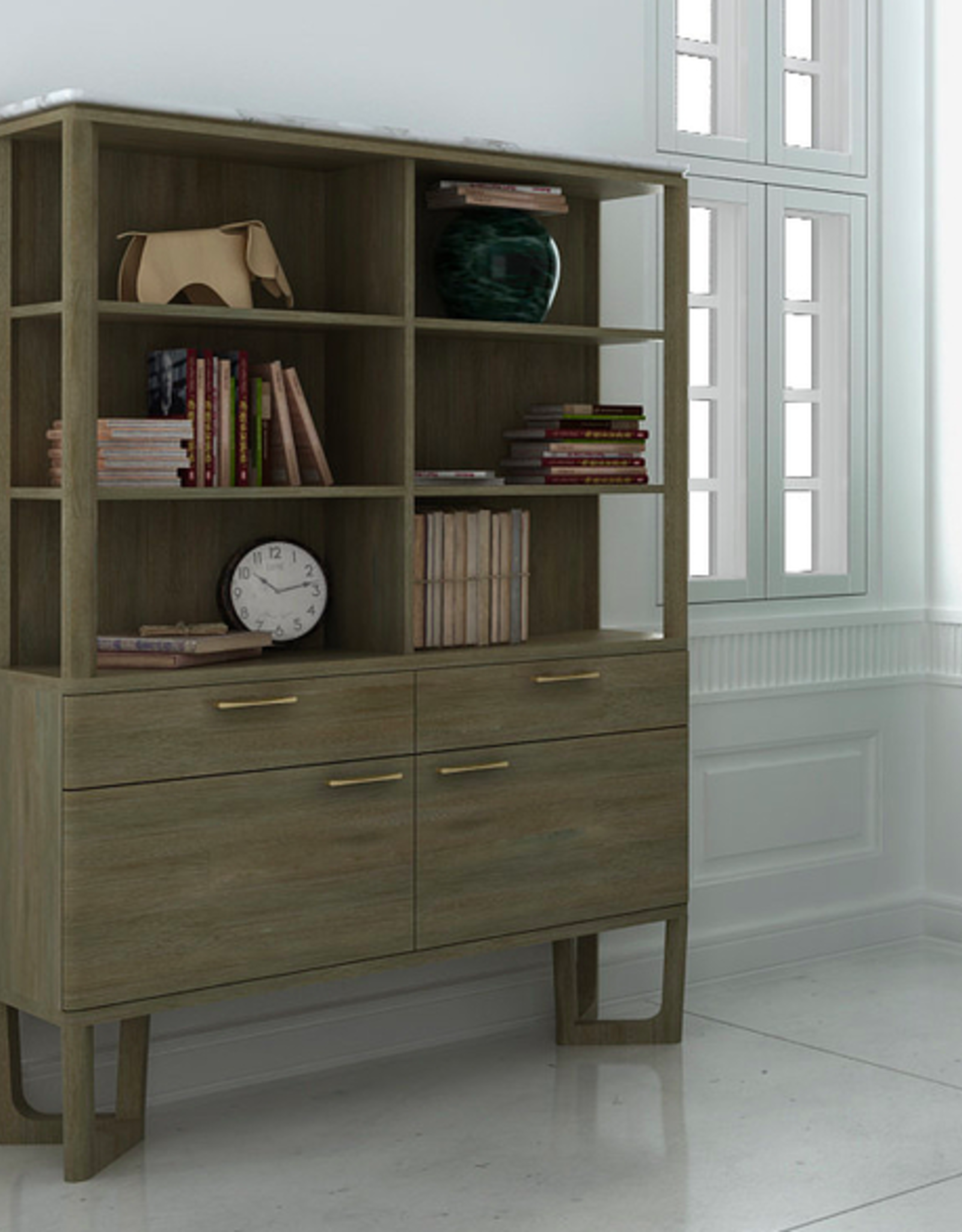 LH Imports LH Aura Bookcase ARA019