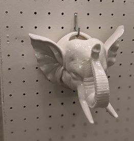 Vase Elephant White