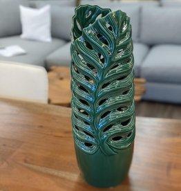 Vase CJ Green Leaf Tall