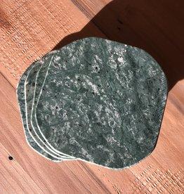 Nostalgia Coasters Green Marble S/4