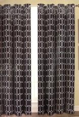 Curtains CasaDecor Black Interlock 54x84