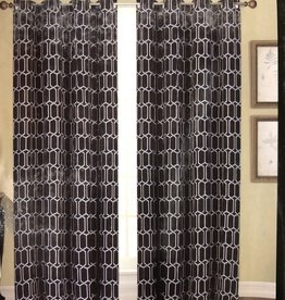 Curtains CasaDecor Black Interlock 54x84
