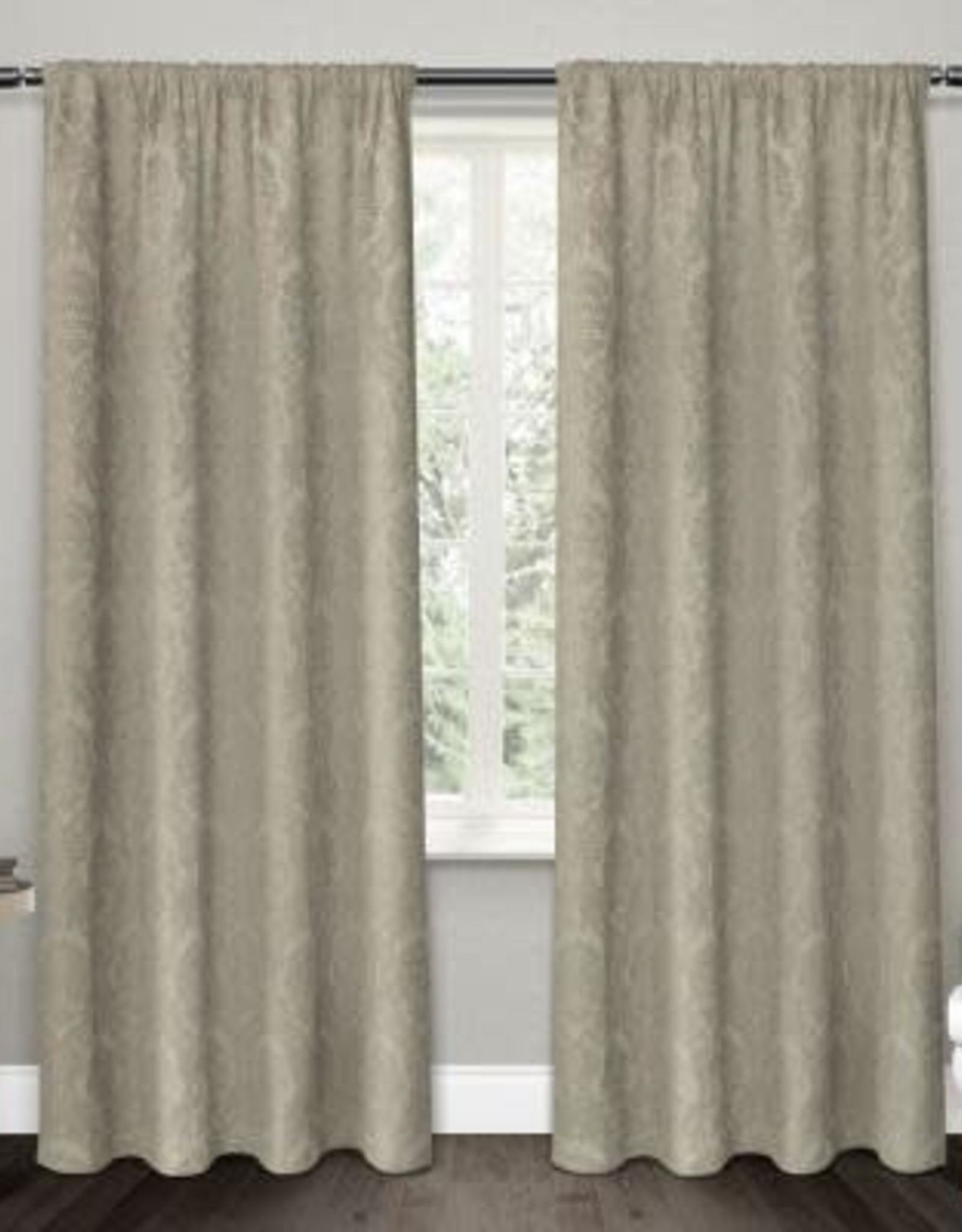 Curtains CasaDecor Taupe Flore 54x84