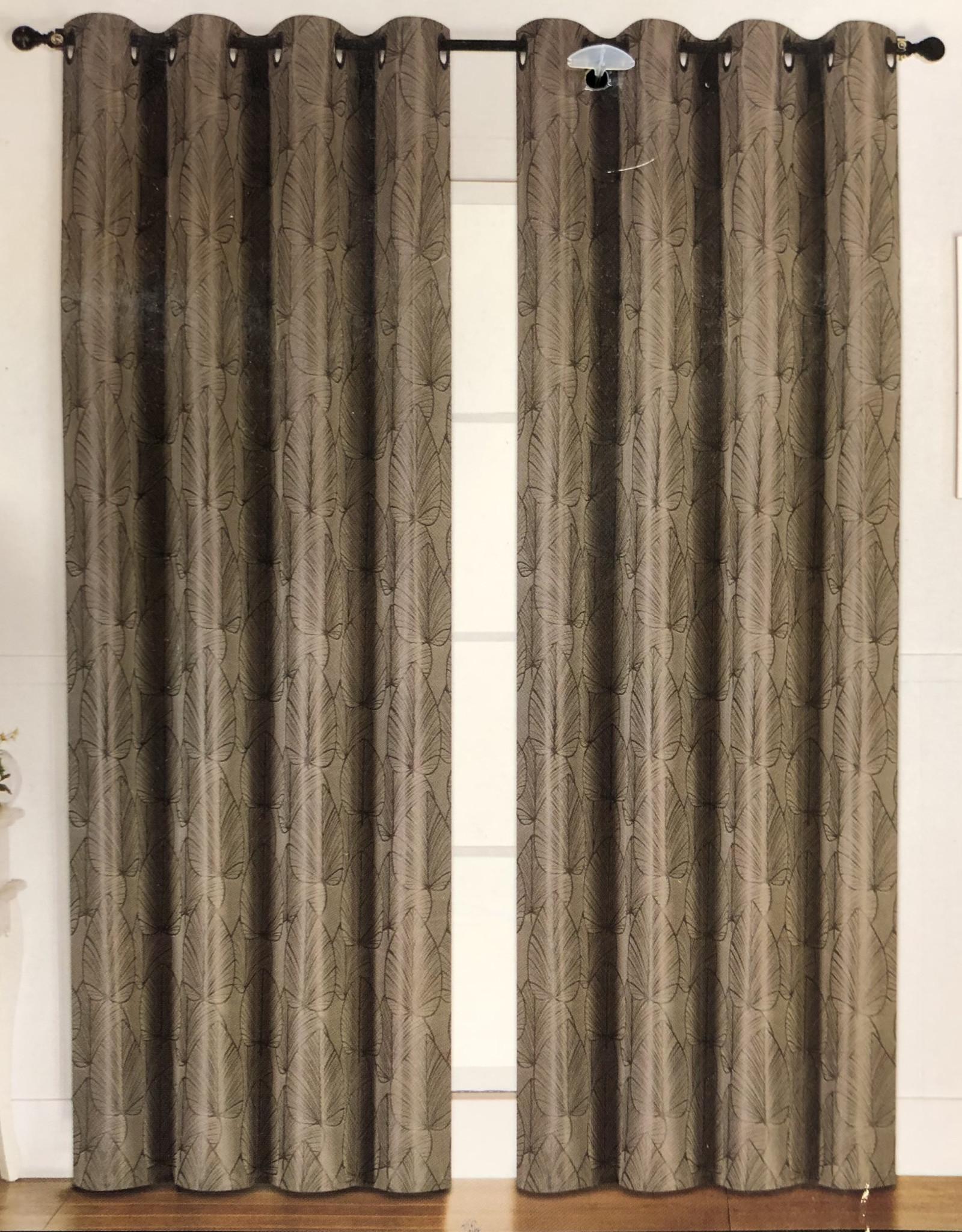 Curtains CasaDecor Green Leaf 54x84