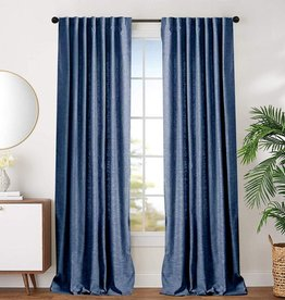 Curtains CasaDecor Blue Flore 54x84