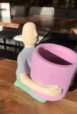 Planter PC Man Pink Pot