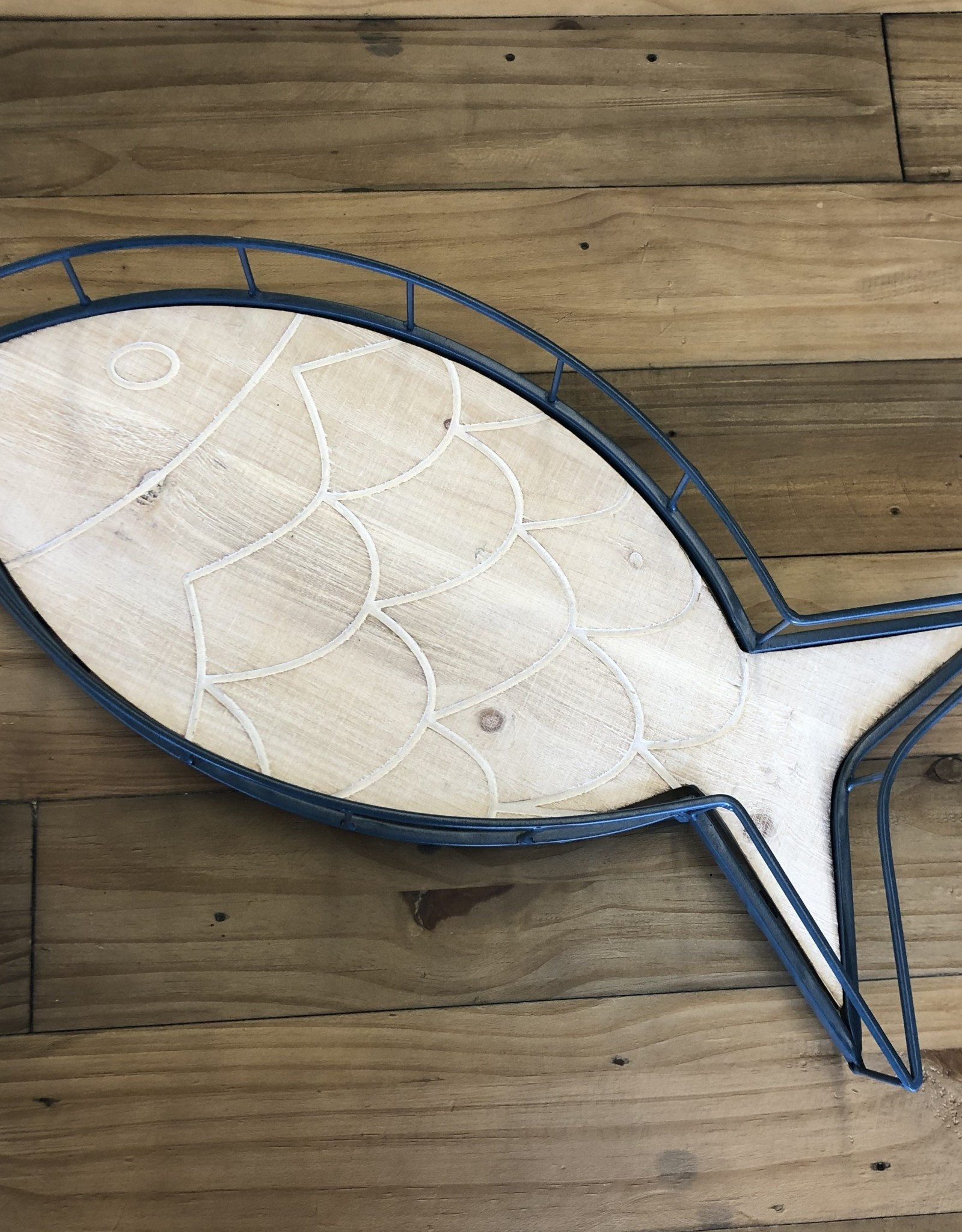 Tray Fish Wire Blue