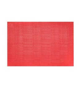 Placemat Harman Basketweave 13x18 Red