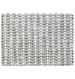 Placemat Harman Etch Leaf Printed Black
